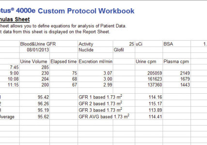 Captus ® Thyroid Uptake System Custom Protocol- Formula Page